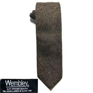 Wembley Gray Tweed Wool Necktie